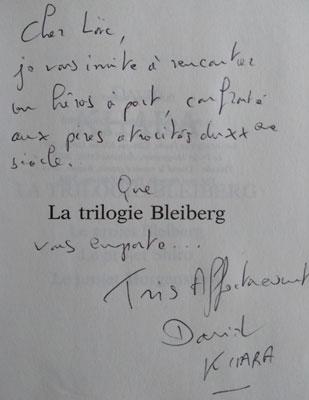 Dédicace de la Trilogie Bleiberg de David Khara